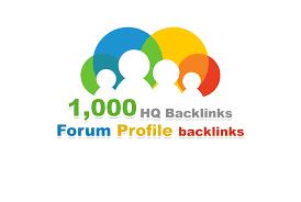 Provide 1000 forum profiles backlinks