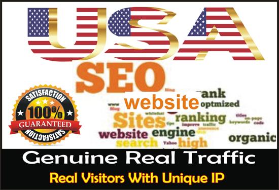 Send 10,000 organic targeted USA web traffic