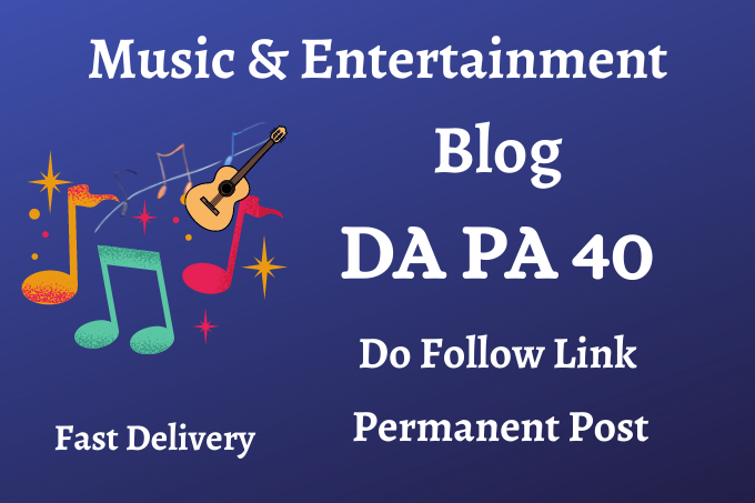 do guest posts on music & Entertainment blog