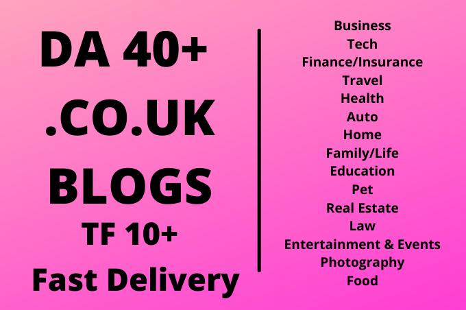 I will do guest post in da 40+ UK blog