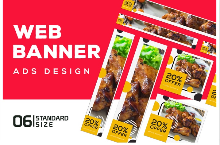 Design 5 Custom Banner Ads, Facebook Ads, Email Banners, Twitter Ads, YouTube Cover Art, Google Ads