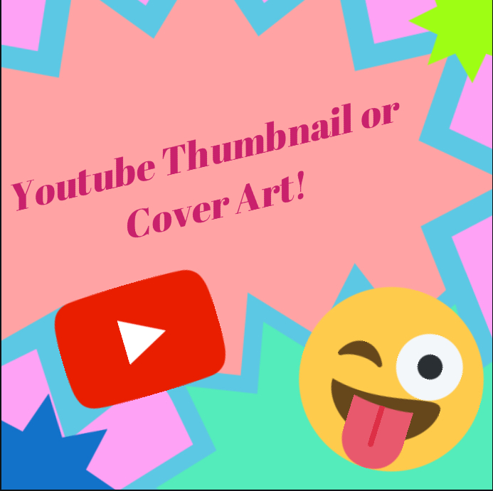 Unique Eye-catching Youtube Thumbnail/ Cover Art