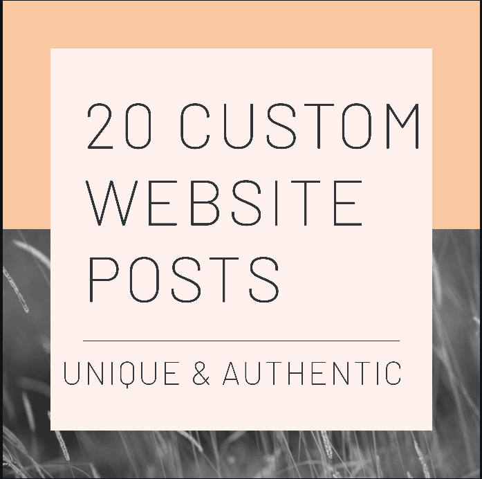 20 Custom Website/ Forum Posts- Unique and Authentically Written