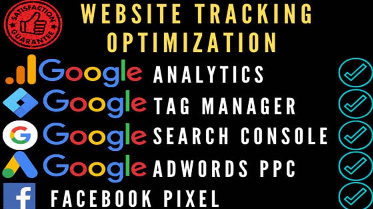 Setup Google Analytics, Google Tag Manager, Google Search Console & fb Pixels