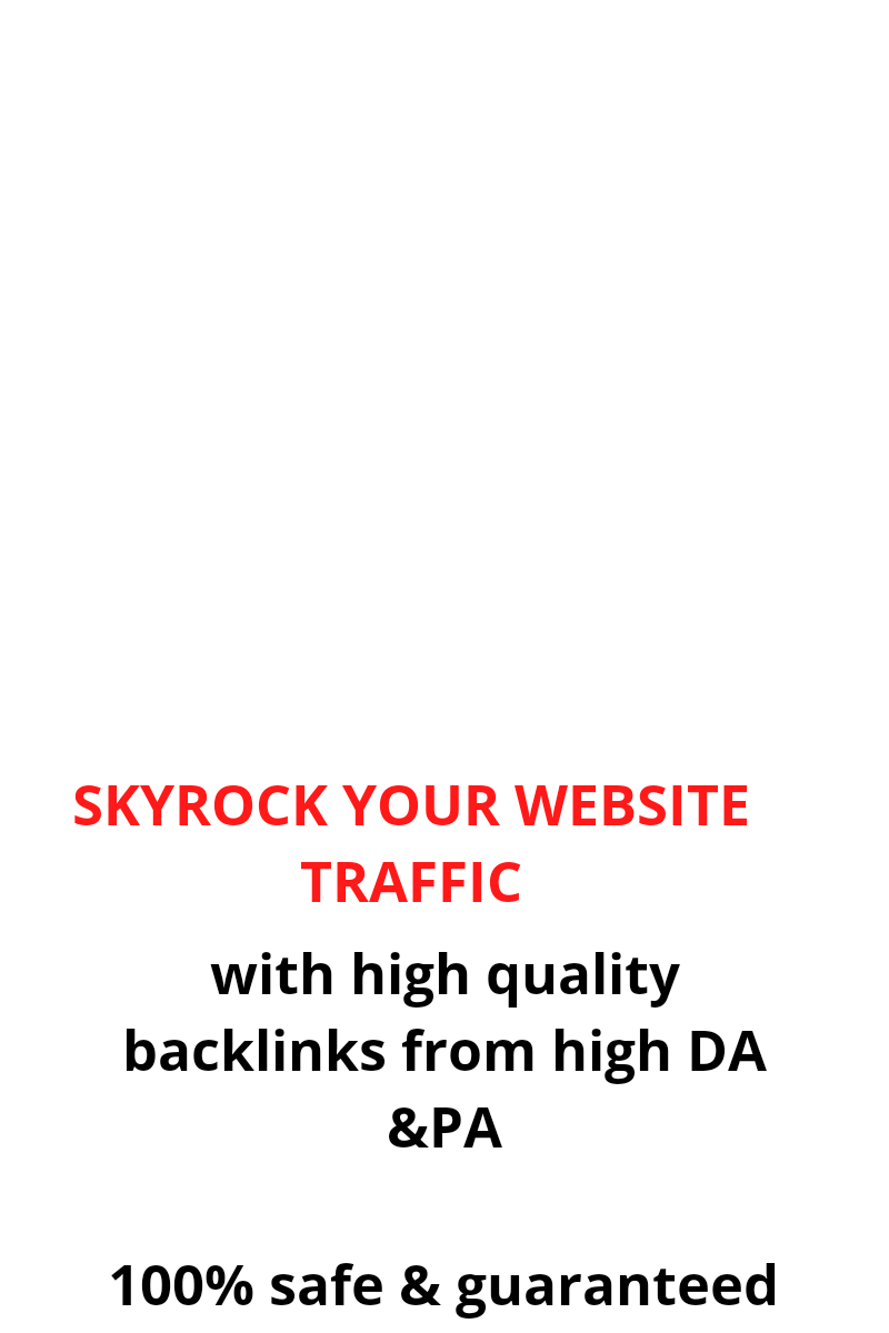 I will provide you with high DA & PA backlinks to your website