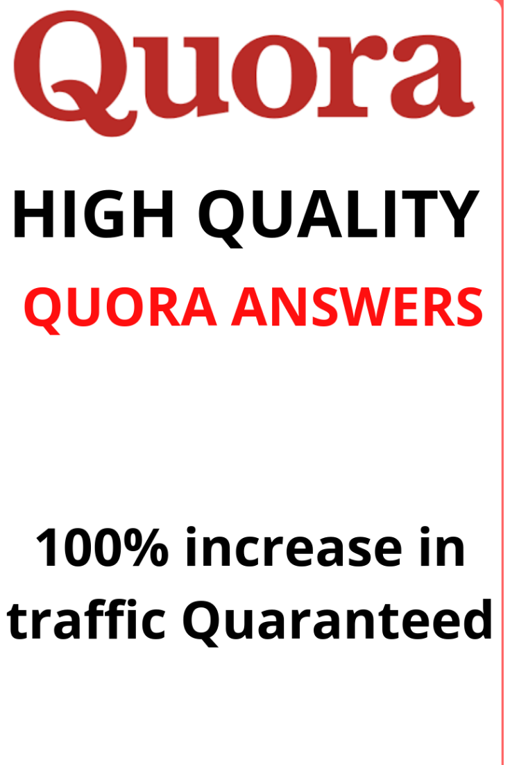 Get 4 high quality quora answers