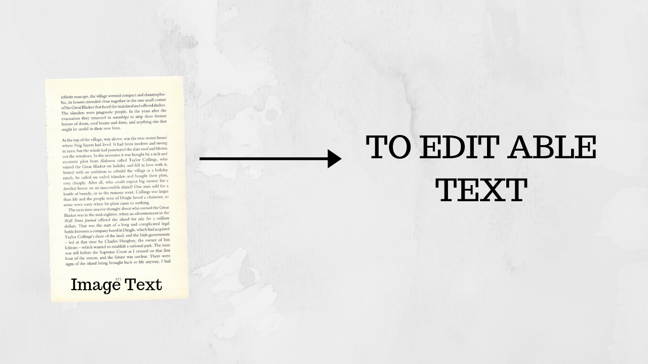 Convert image text to edit able text