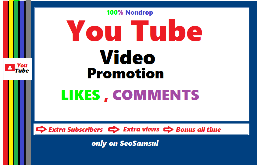 YouTube video promotion from real via world wide user