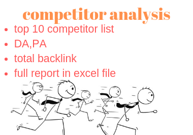 competitor analysis for any niche and keyword