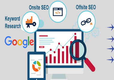I will provide a full SEO service for Google Ist page ranking