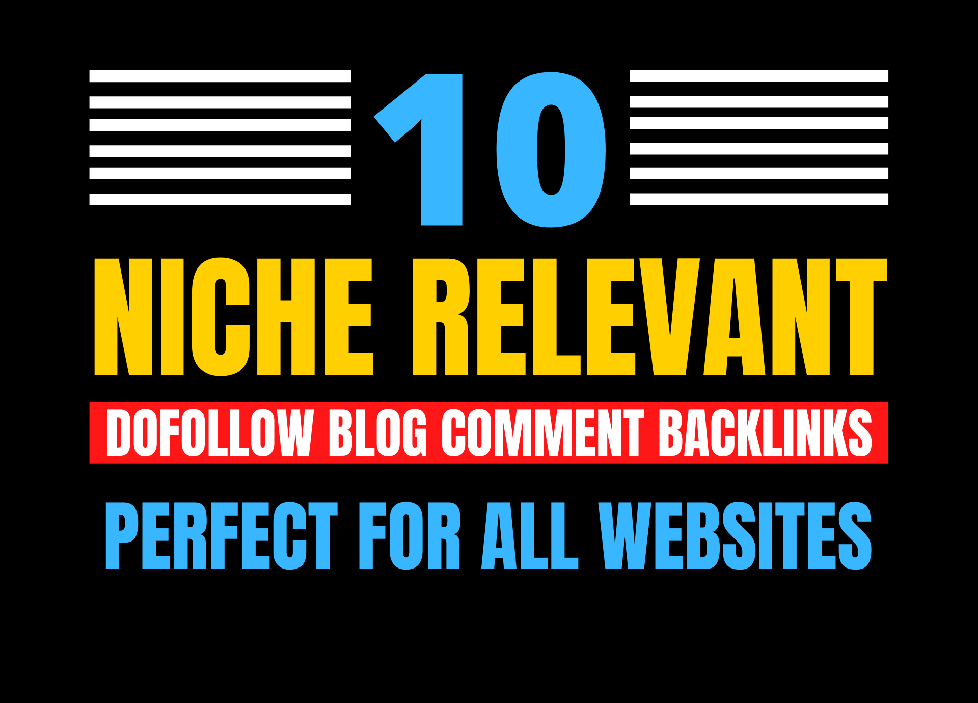 i will provide 05 niche relevant dofollow blog comment backlinks