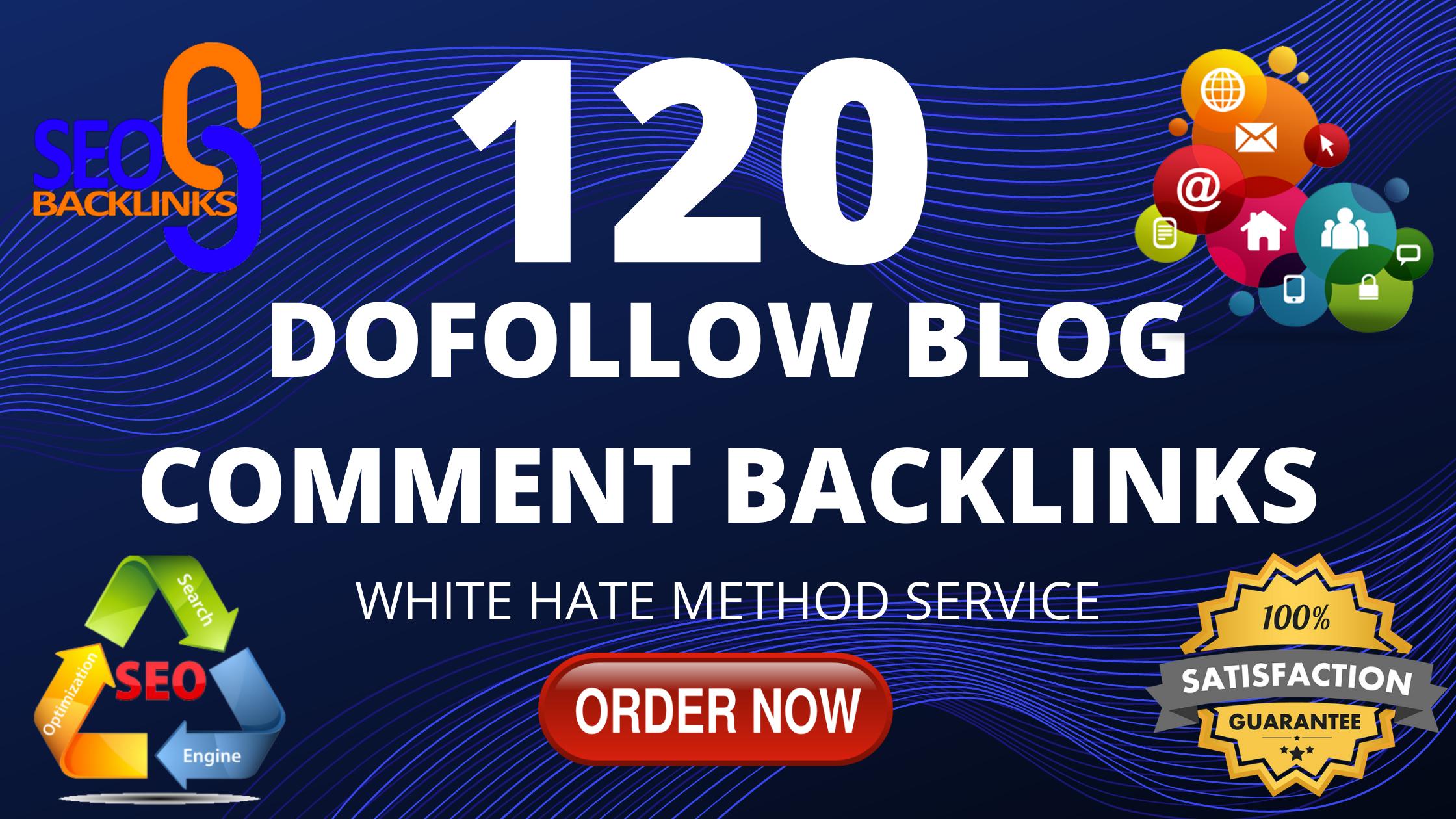 i will provide 120 dofollow blog comment backlinks