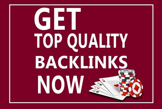 Build Casino pbn backlinks of high da pa pbn sites