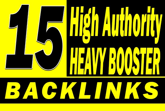 Do 15 Heavy Booster PBN Backlinks High DA PA TF CF