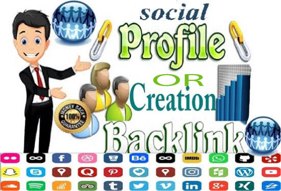 I will manually create 55 Social Profiles Set Up or Profile creation for boost your business