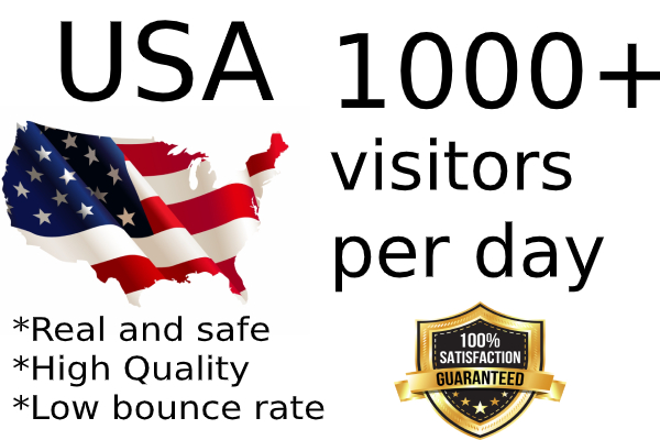 30000 quality USA traffic to your website