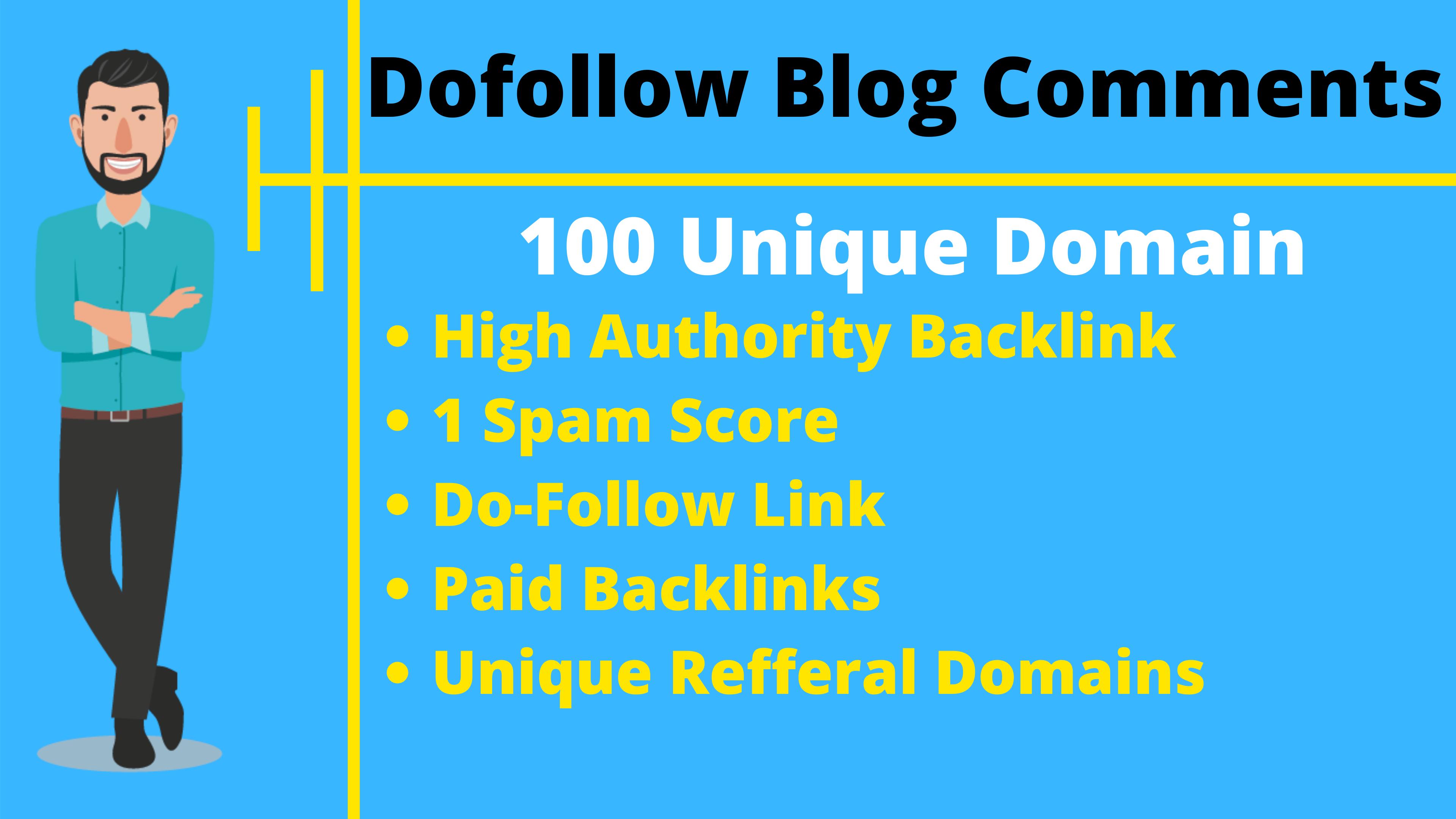 Manually create 100 dofollow blog comments SEO backlinks