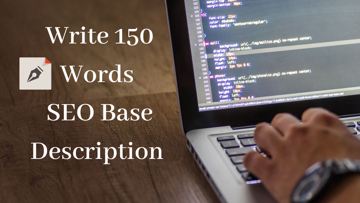 Write 150 Words Description SEO Base For Your Products