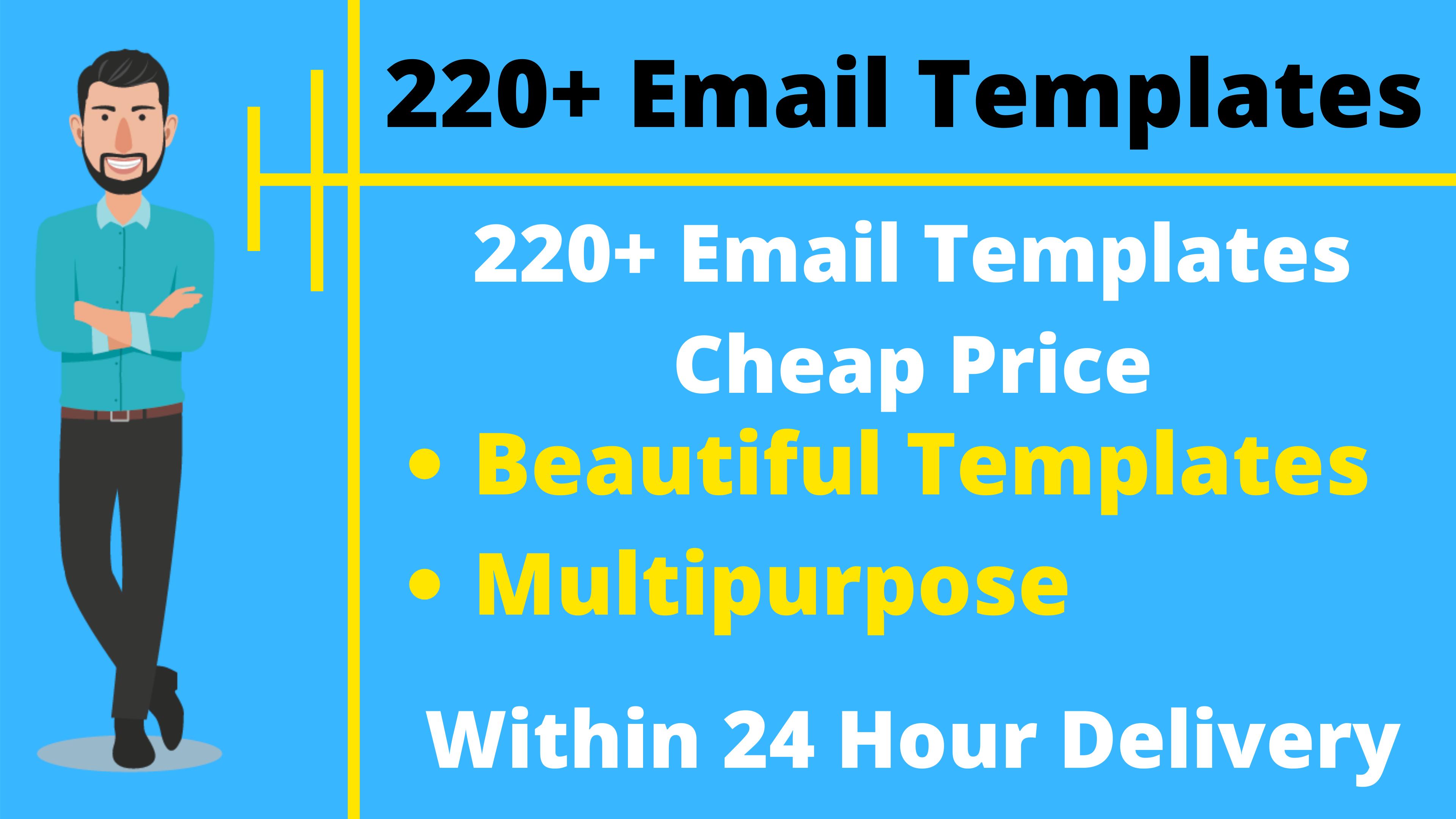 220+ Premium Email Templates Multipurpose
