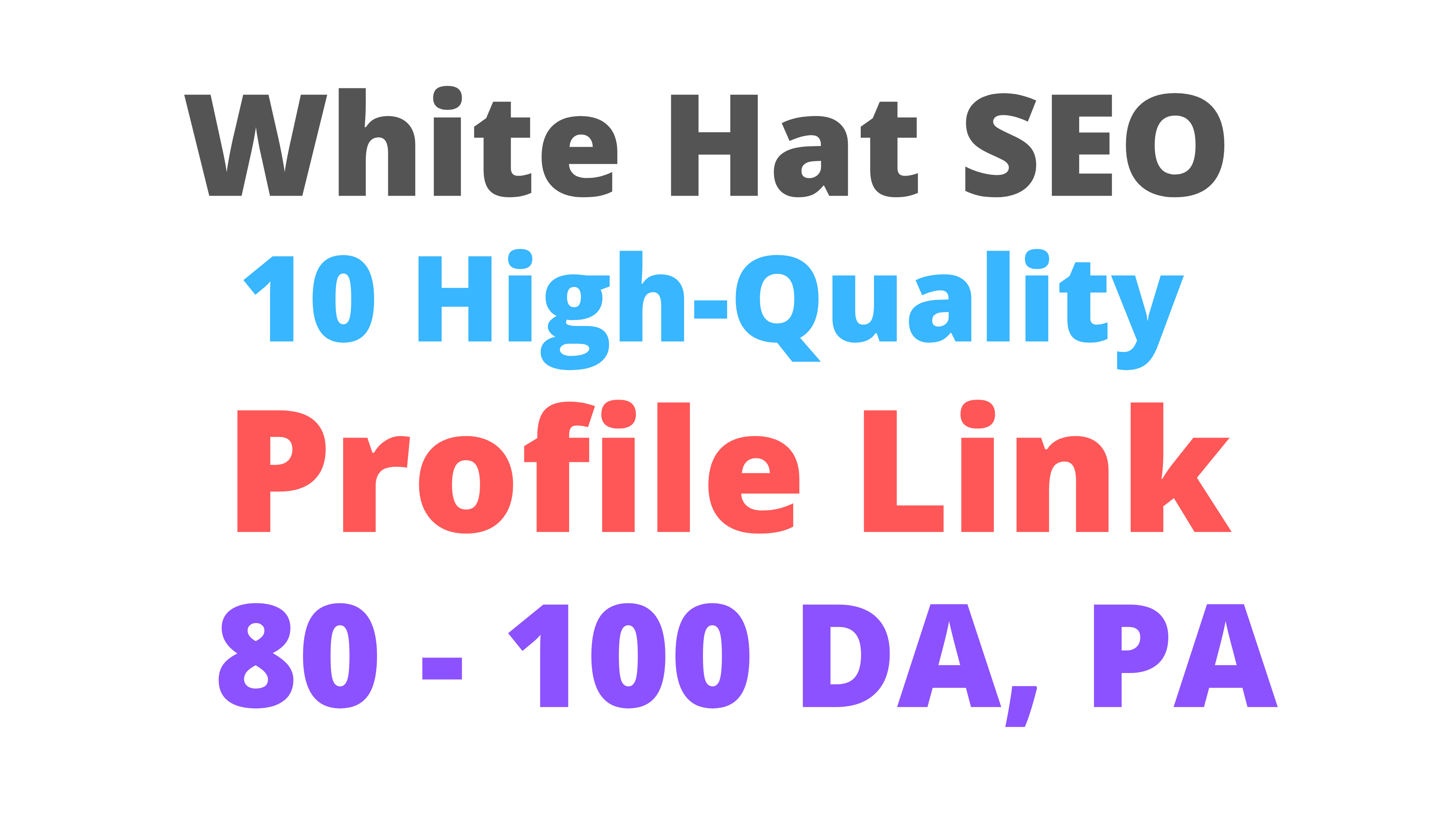 Limited Time Offer Profile Backlinks High DA PA White Hat SEO