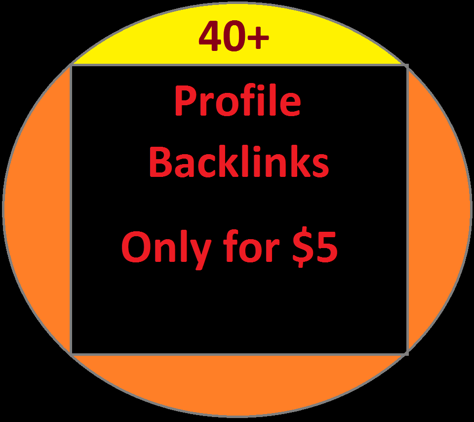 40+Perfect profile Backlinks for your website