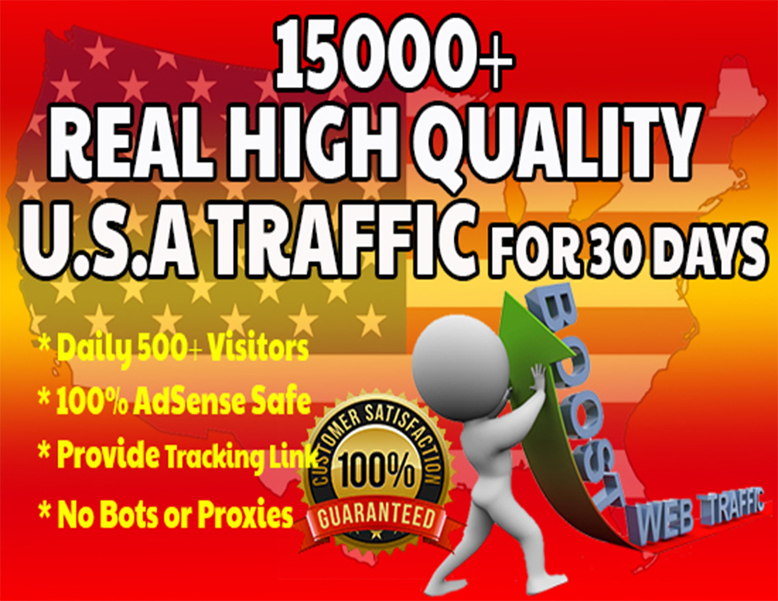 15000+ USA Targeted Real Traffic In 30 days