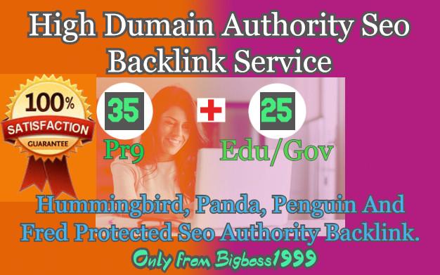 35 Pr9 + 25 Edu/Gov High SEO Authority Backlinks - Fire Your Google Ranking