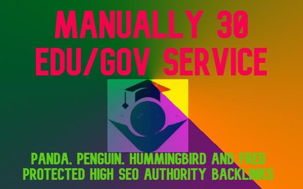 I Will Manually do 30 Edu/Gov High Seo Authority Backlinks Service- Fire Your Google Ranking