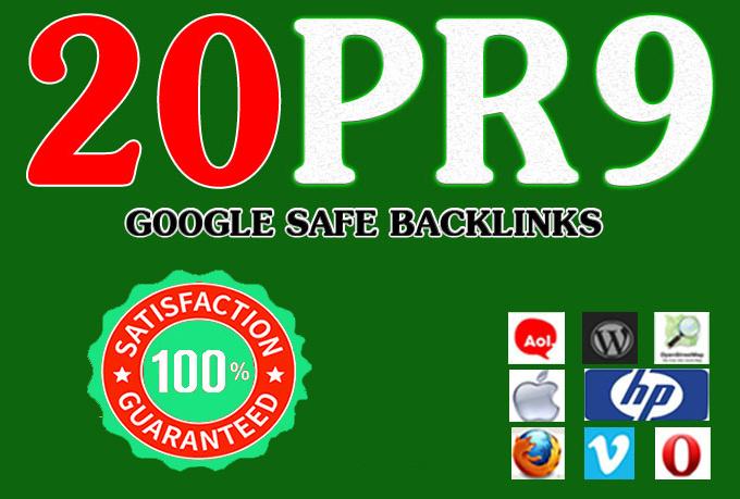I will manually do 20 Pr9 High Authority Backlinks - Fire Your Google Ranking