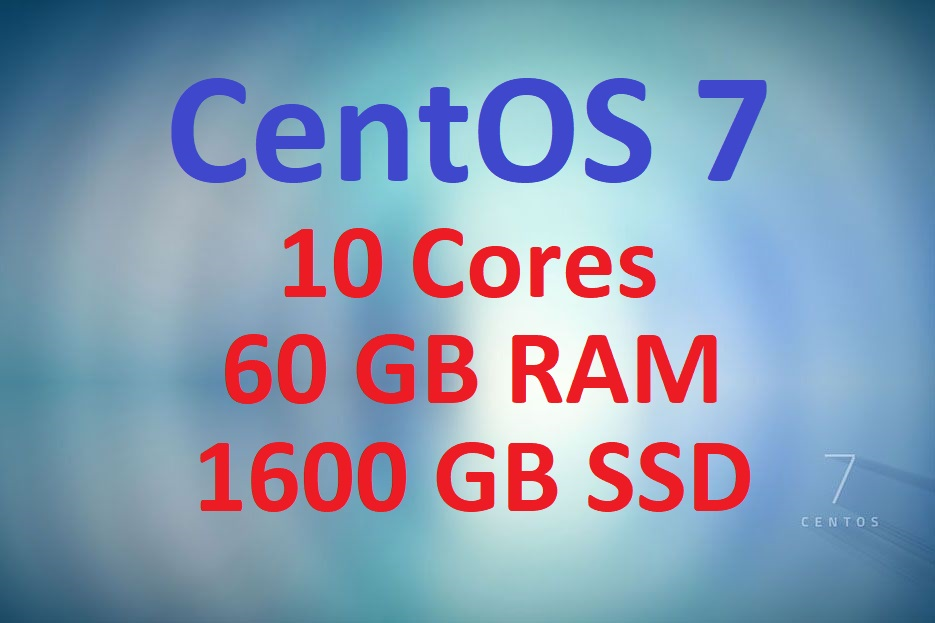 CentOS 7 VPS with 60GB RAM and 1600GB SSD Space