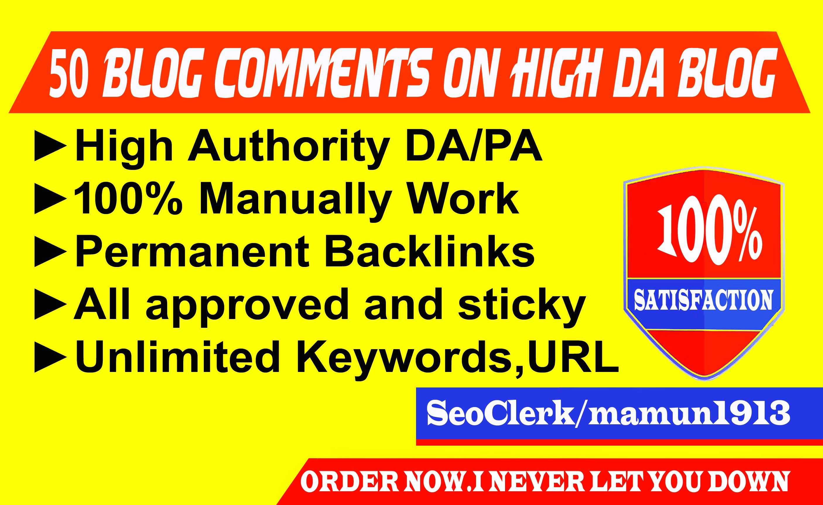 Create 70 Blog Comments on High DA Blog