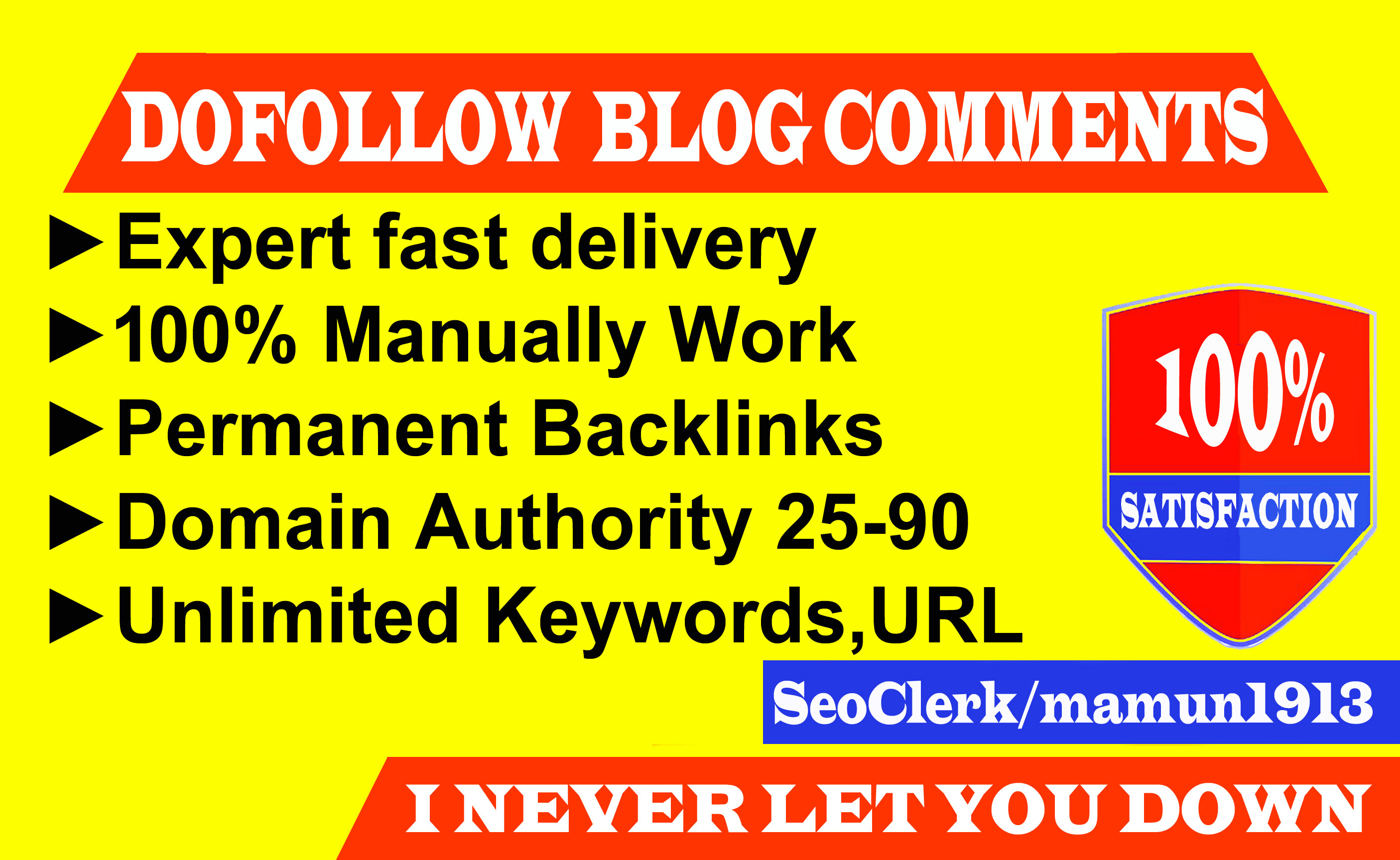 Build 50 Dofollow Blog Comments Backlinks on High Authority Blog