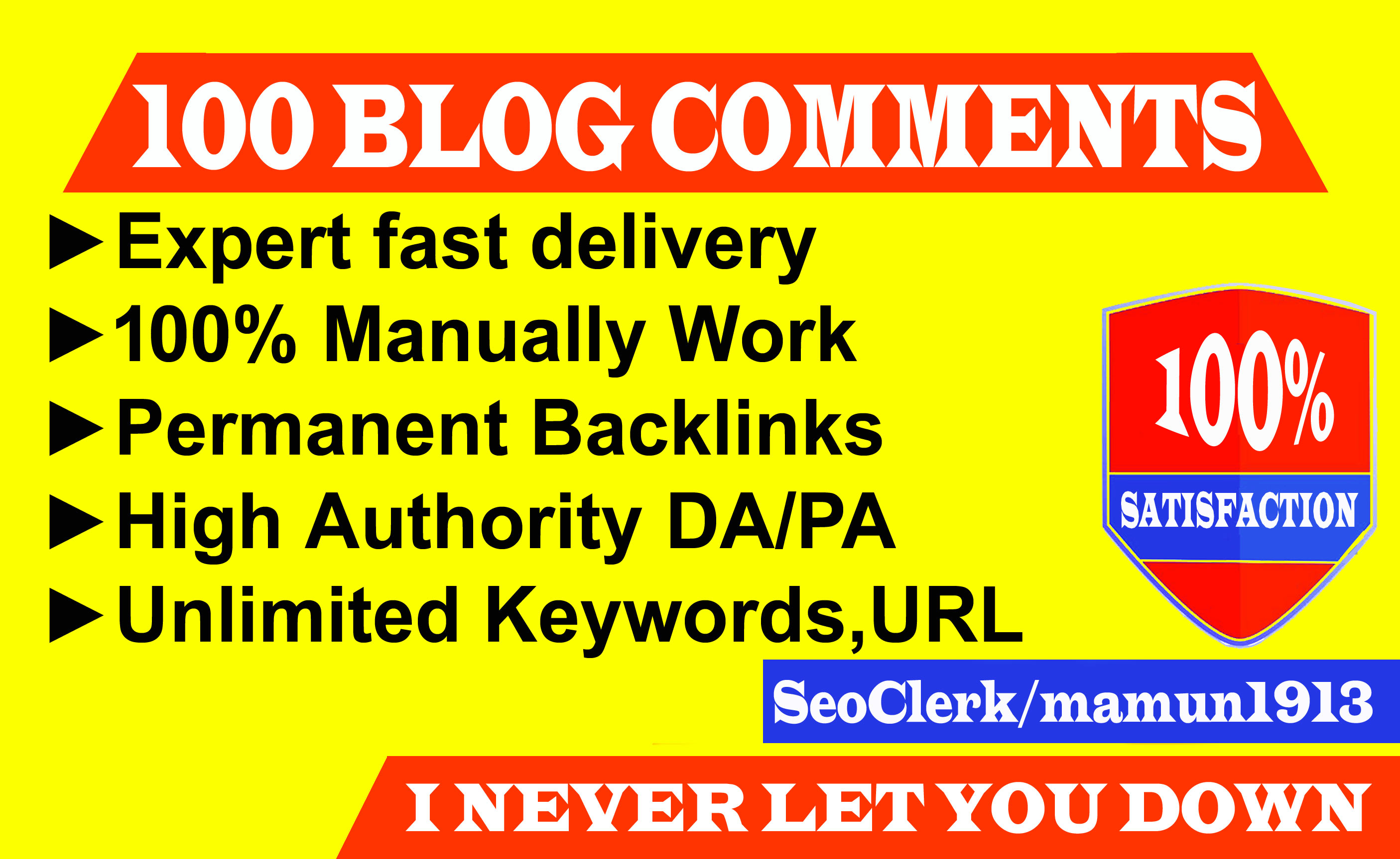 Create 100 SEO Permanent Blog Comments on High DA PA Blog