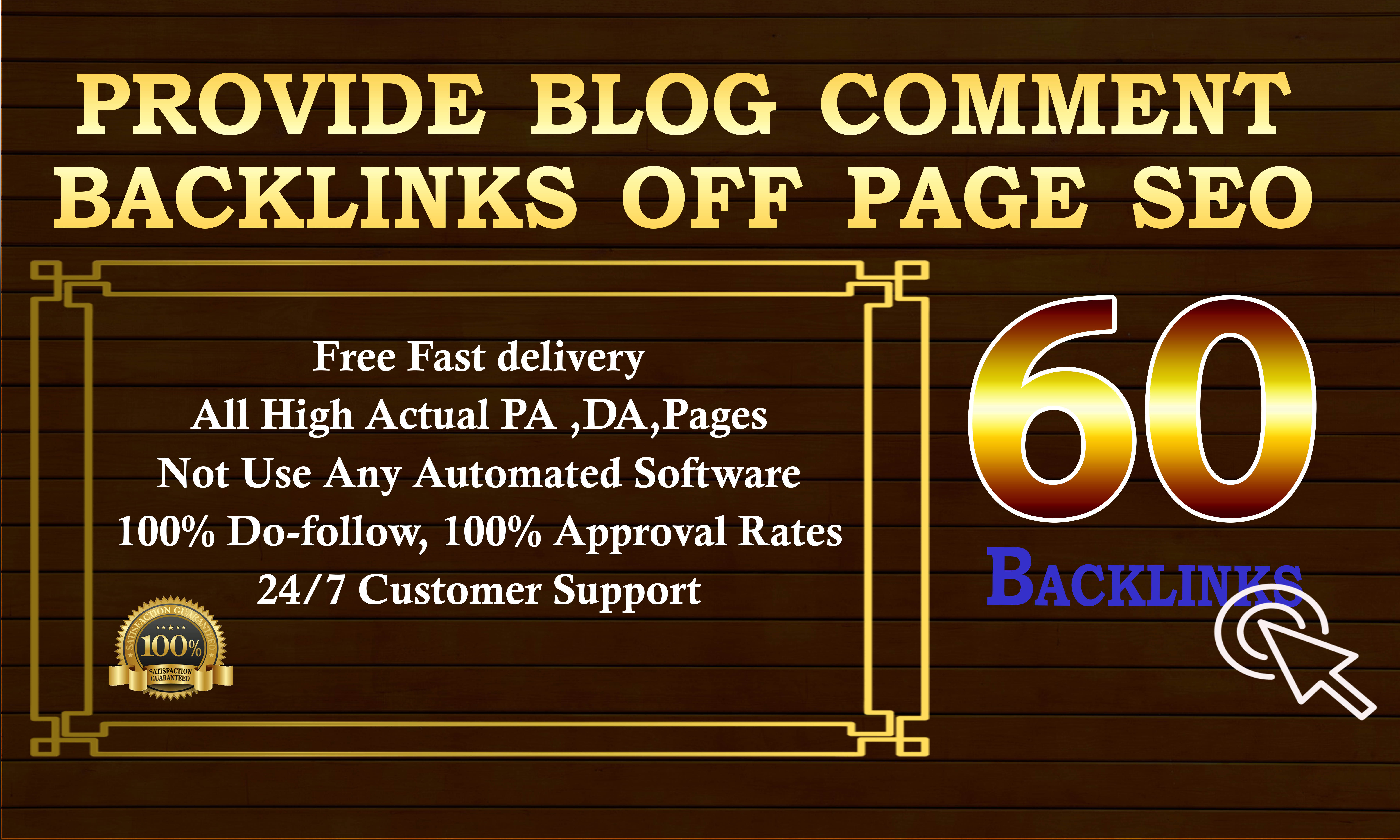 Create high quality blog comment backlinks & off page seo