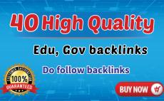 I will do 40 high quality edu gov dofollow blog comment backlinks