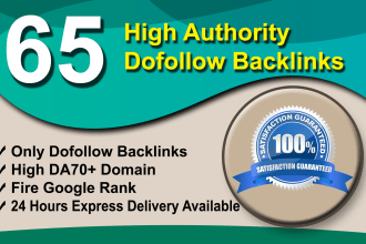 I will do 65 manually dofollow backlinks on high quality blog comments