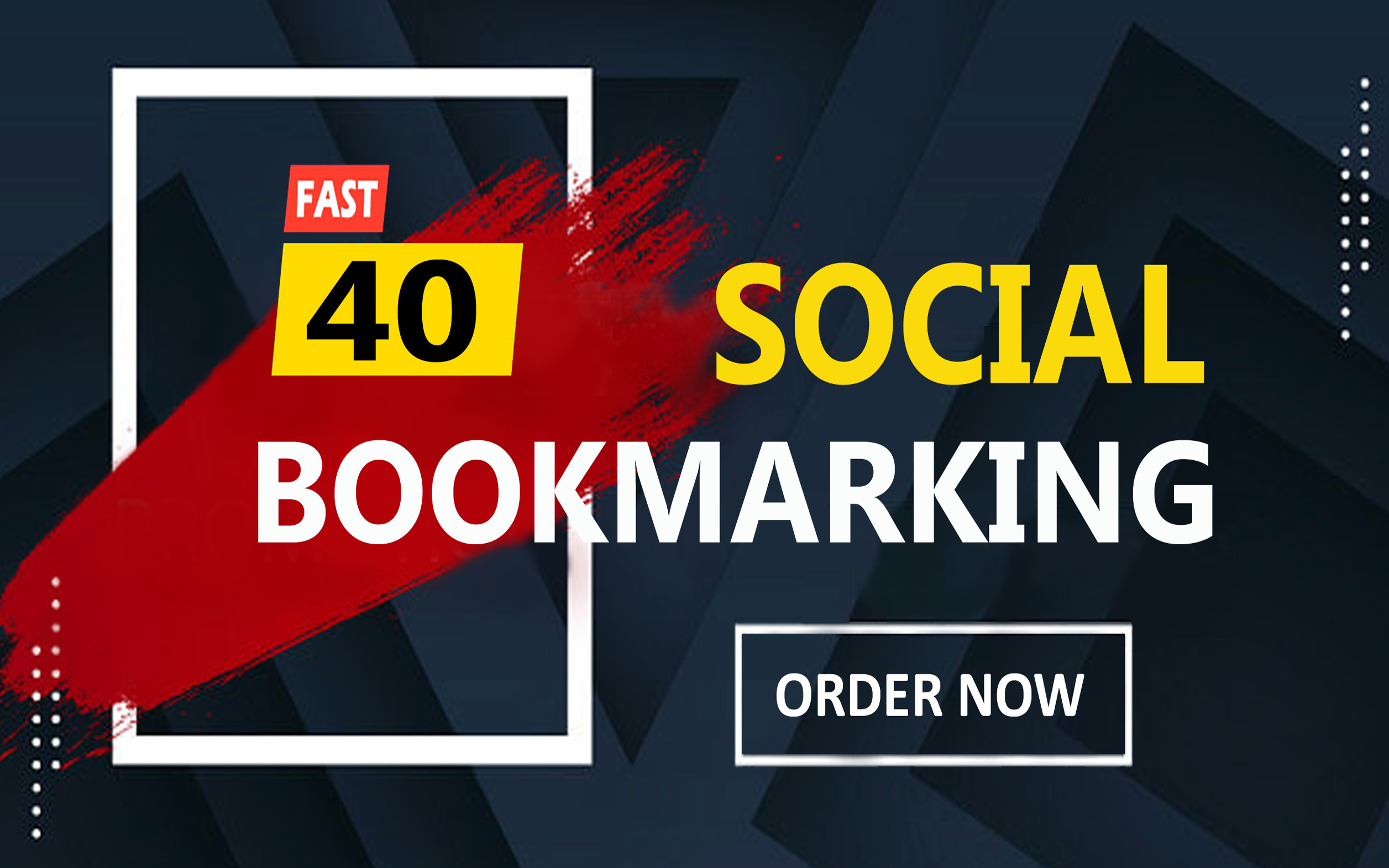 i will provide 40 high quality social bookmarking with high DA /PA and DR