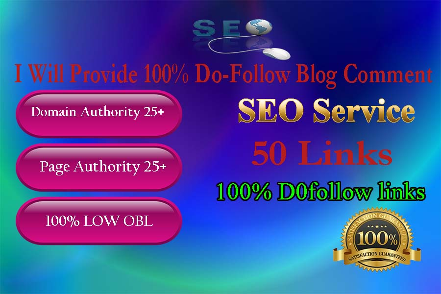 I will do manually dofollow blog comment backlinks off page seo