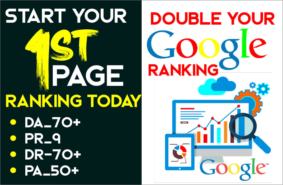 double your Google ranking with 20 pr9 da70 seo dofollow backlinks