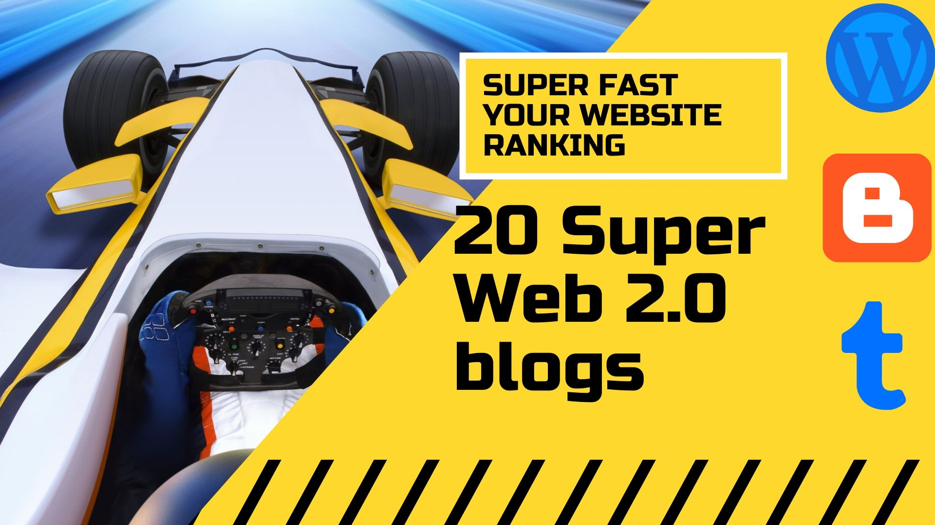 create manually 20 fully optimized web 2.0 blogs with 10 Social backlinks