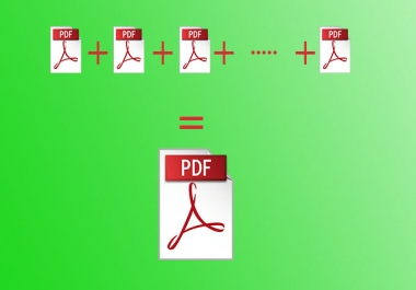 Merge multiple PDF files into one file