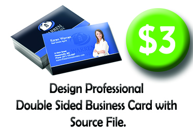 Design Professional Double Sided Business Card with Source File