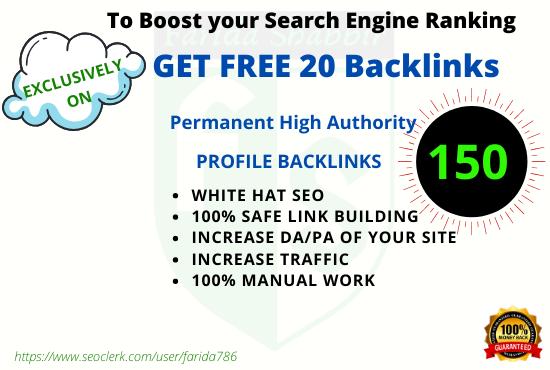 I will create manually high quality social media profiles backlinks