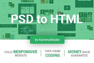 convert psd to responsive website html