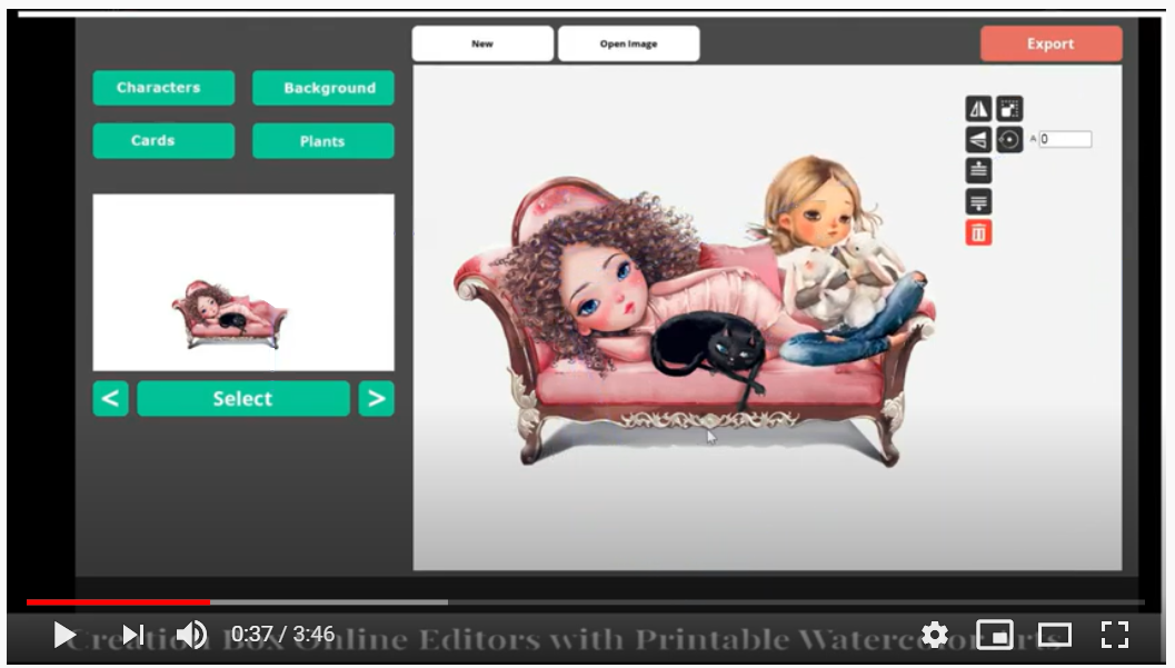 GoCreationBox Online photo editor with printable arts. Customize it to your business