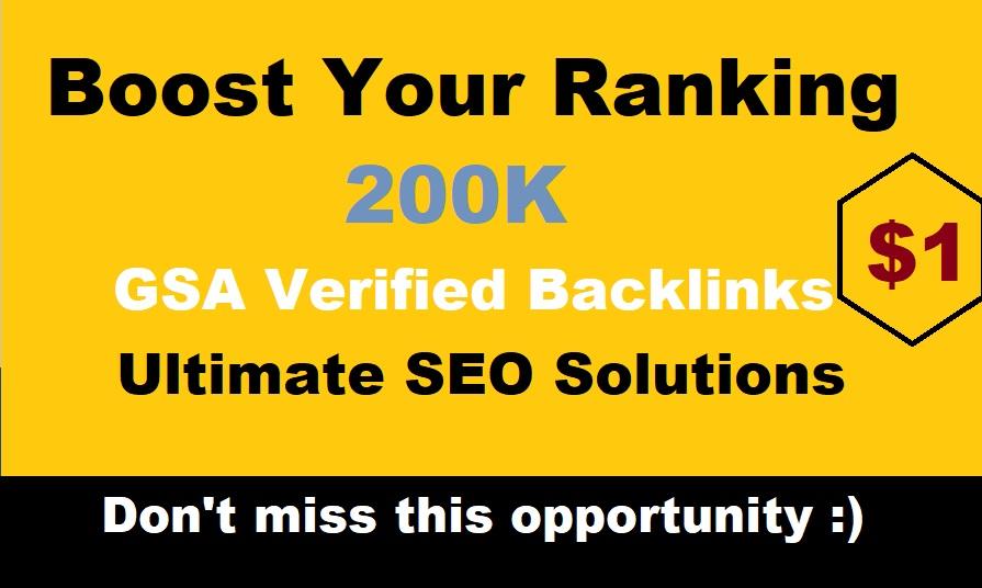 200,000 GSA Verified Backlinks for Faster Google Ranking