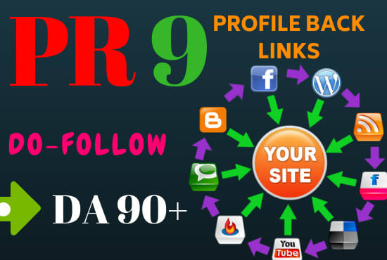 Manually create 40 pr9 da 80 - 95 0 spam score (0SS) profile backlinks