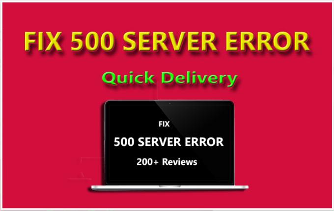 I will fix 500 internal server error from wordpress site
