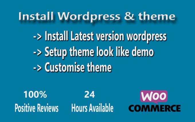 Install wordpress and setup theme look like demo