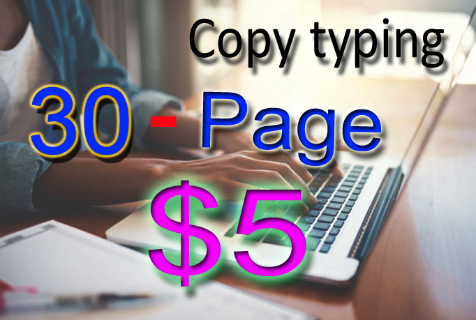 copy typing from images,  scanned documents,  pdf and handwritten